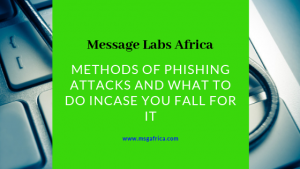 Methods of phishing attacks and what to do in case you fall for it